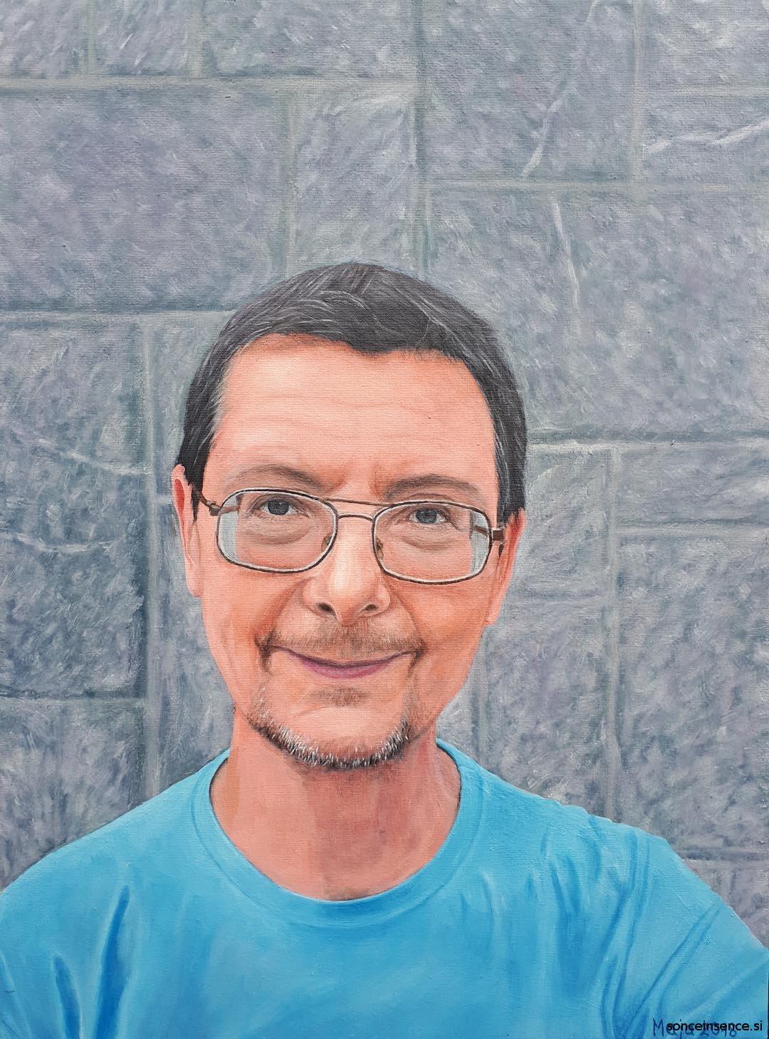 2018, portret, olje