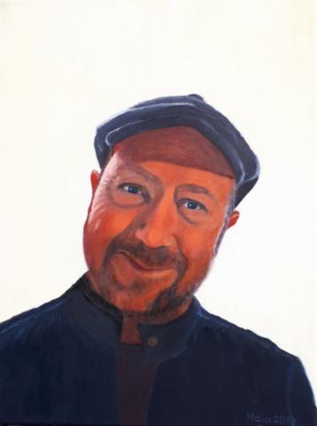 portret, olje, 2019