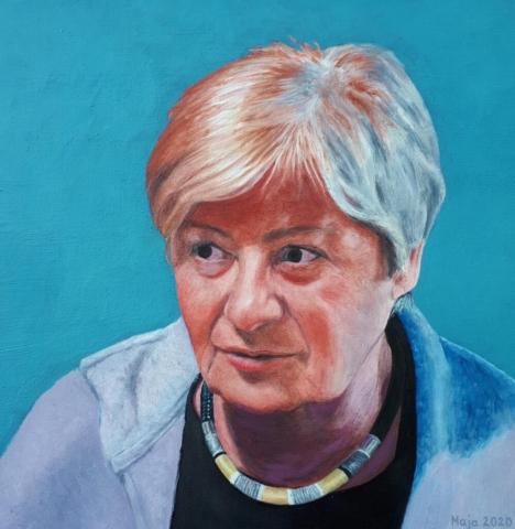 portret, olje, 2020