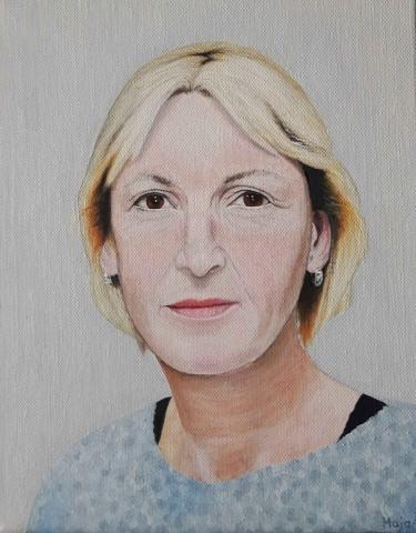 portret, olje na platnu, 2015