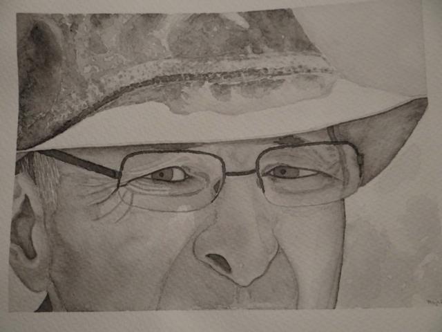 portret, akvarel, 2015