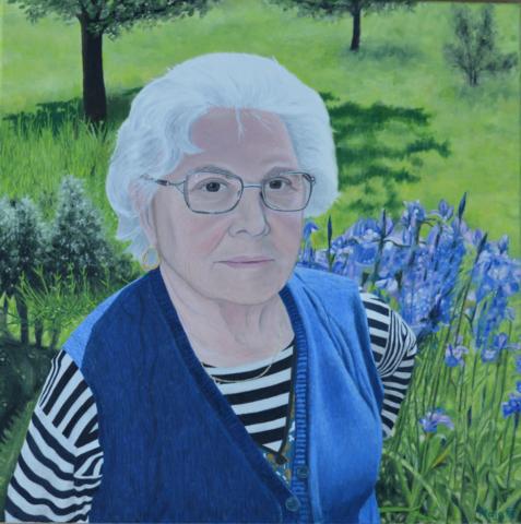 portret, olje na platnu, 2016