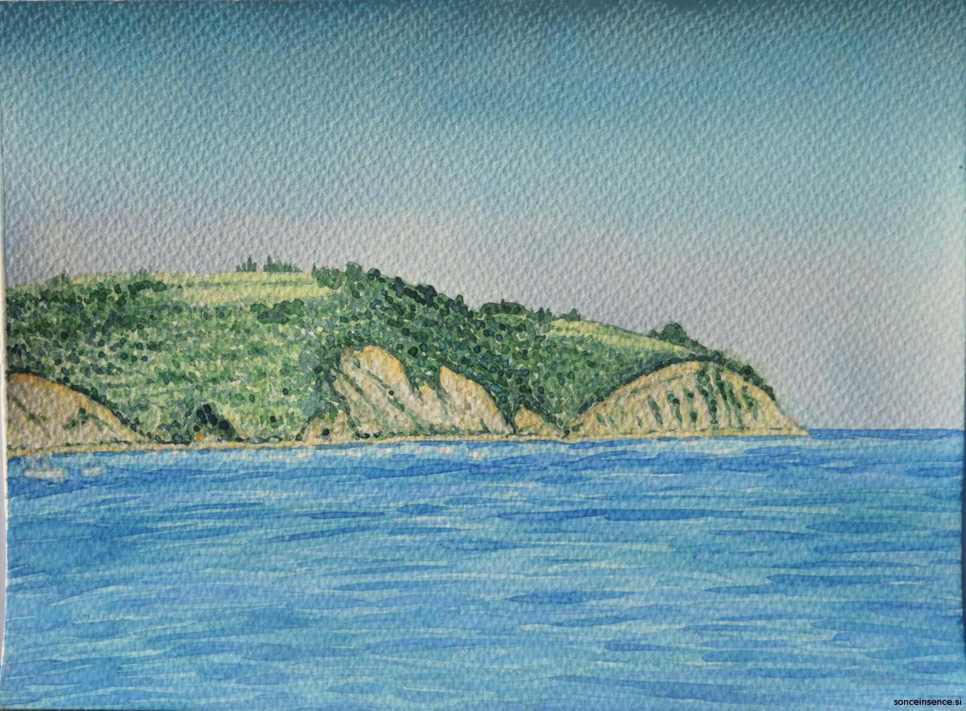 krajina, akvarel, 2015