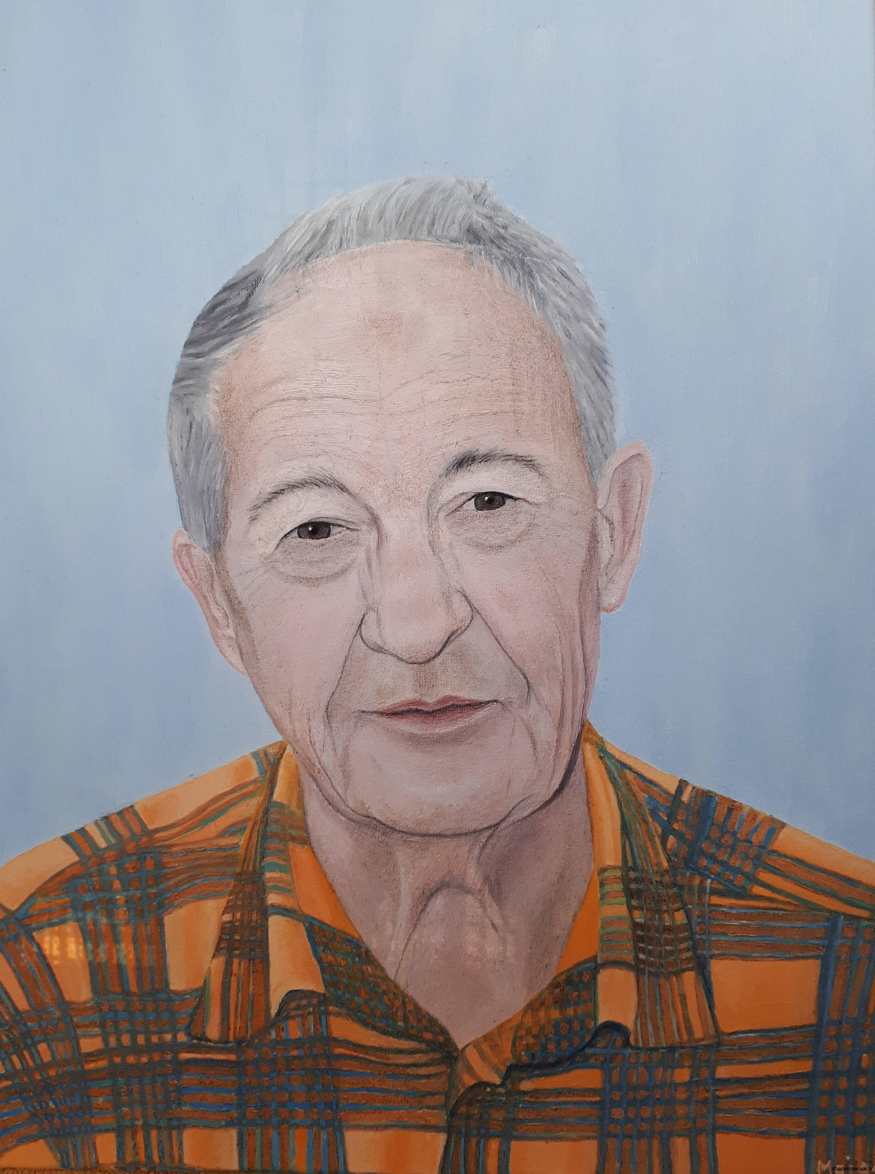 portret, olje, 2016