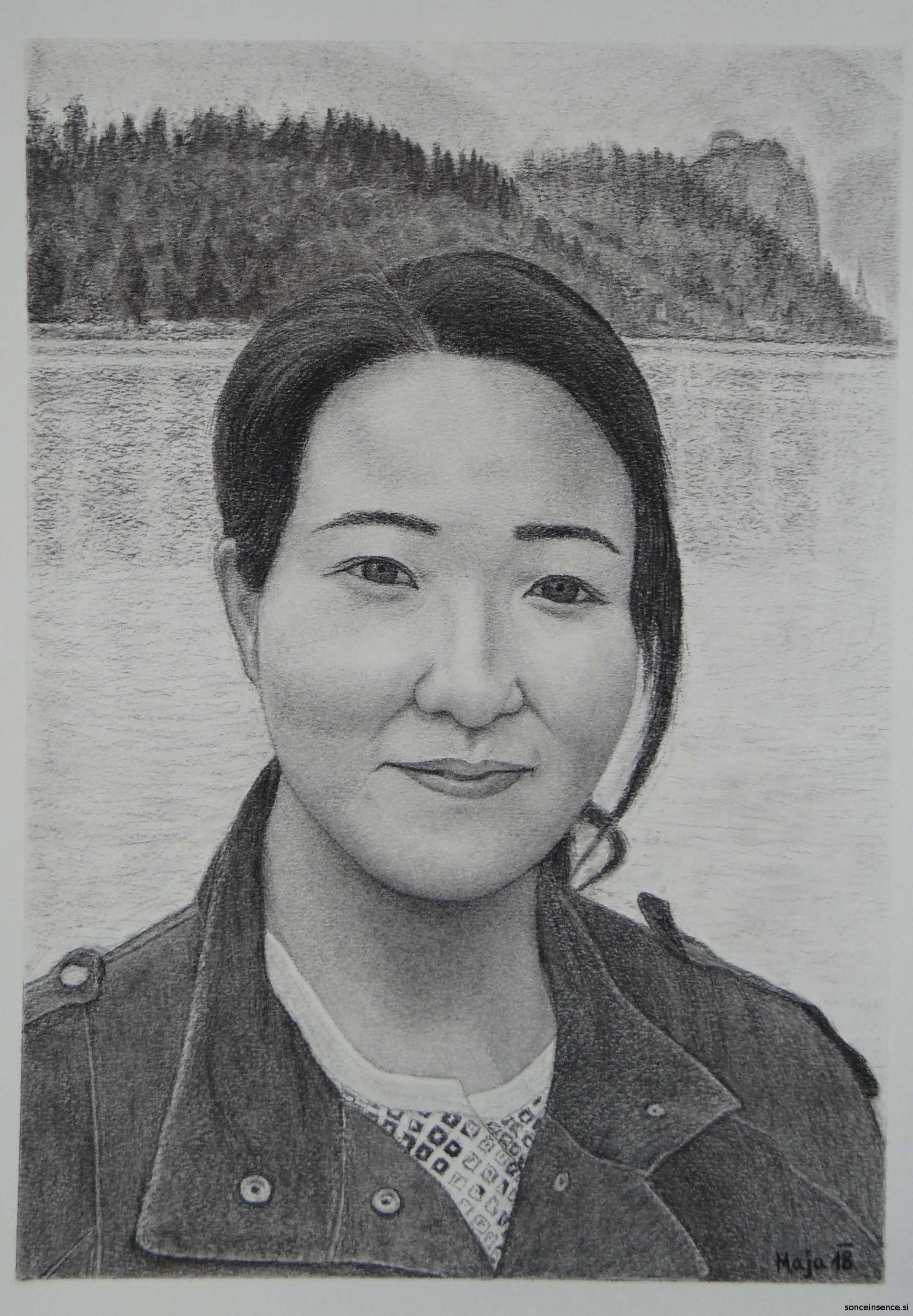 oglje, portret, 2018
