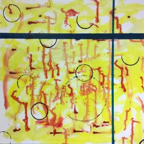 abstraktno, olje na platnu, 2015