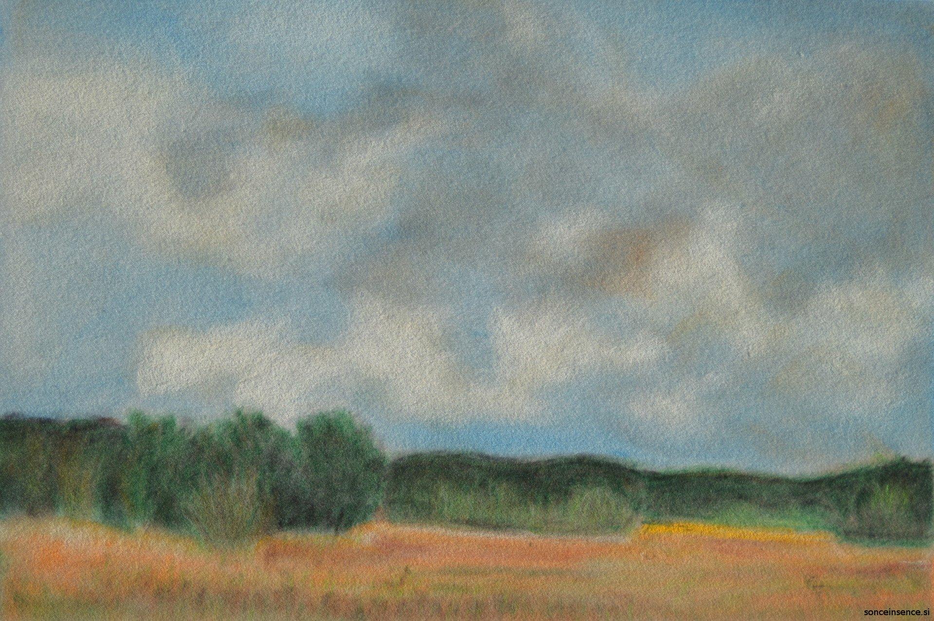 krajina, mehki pastel, 2015