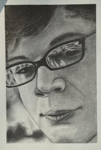portret, oglje, 2015