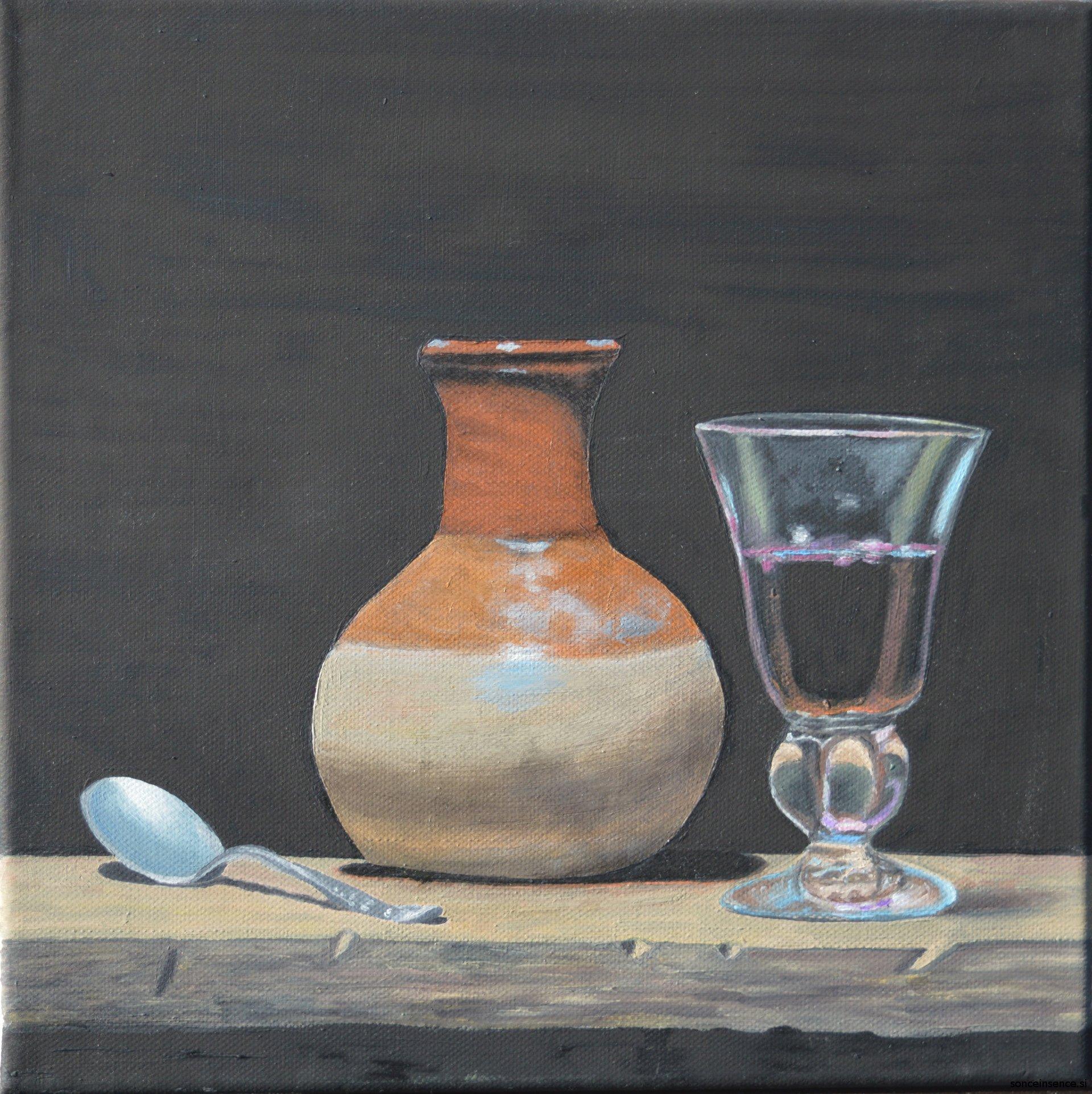 tihožitje, olje na platnu, 2015